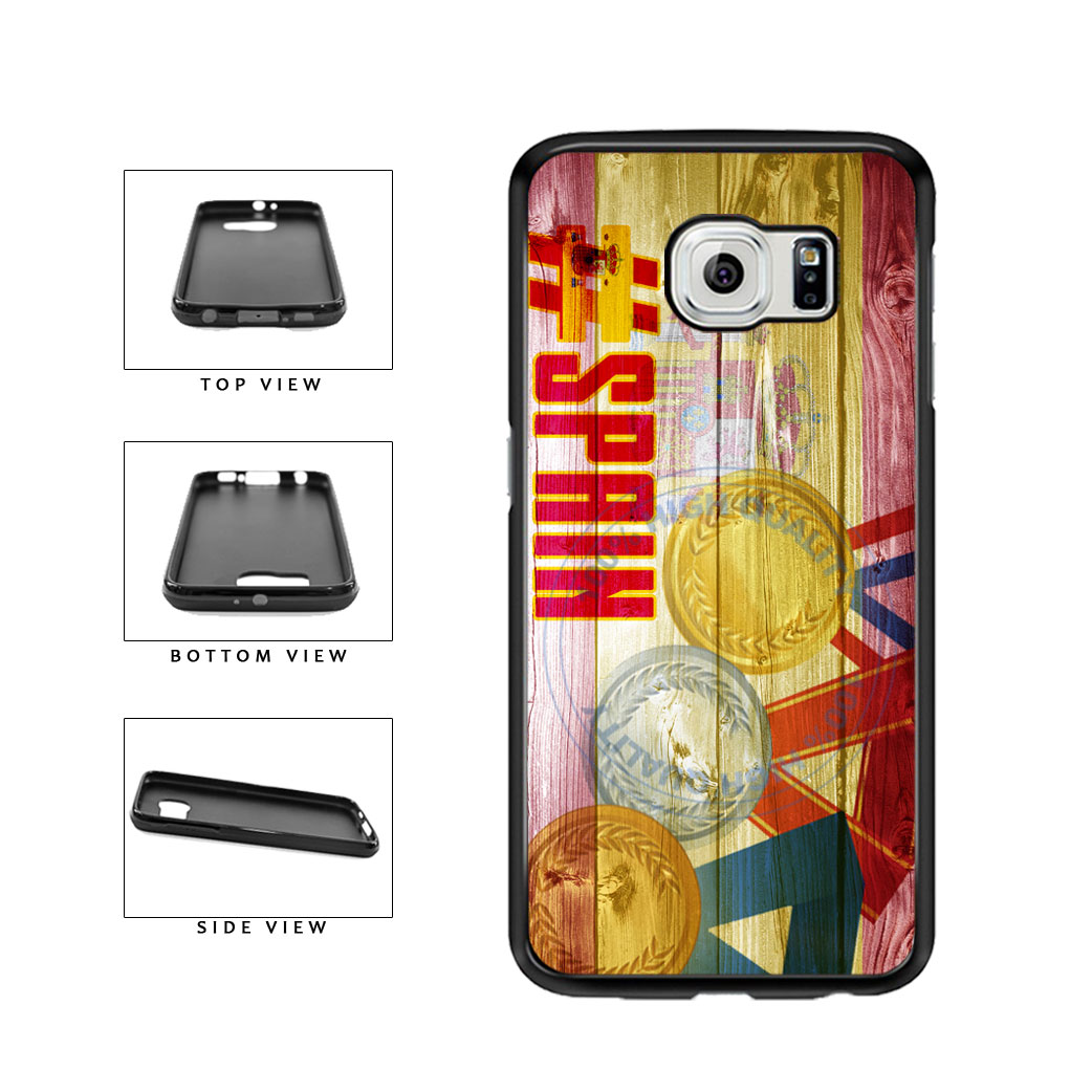 Sport Games Hashtag Team Spain #Spain TPU Rubber SILICONE Phone Case Back Cover For Samsung Galaxy S6 G920 includes BleuReign(TM) Cloth and Warranty Label