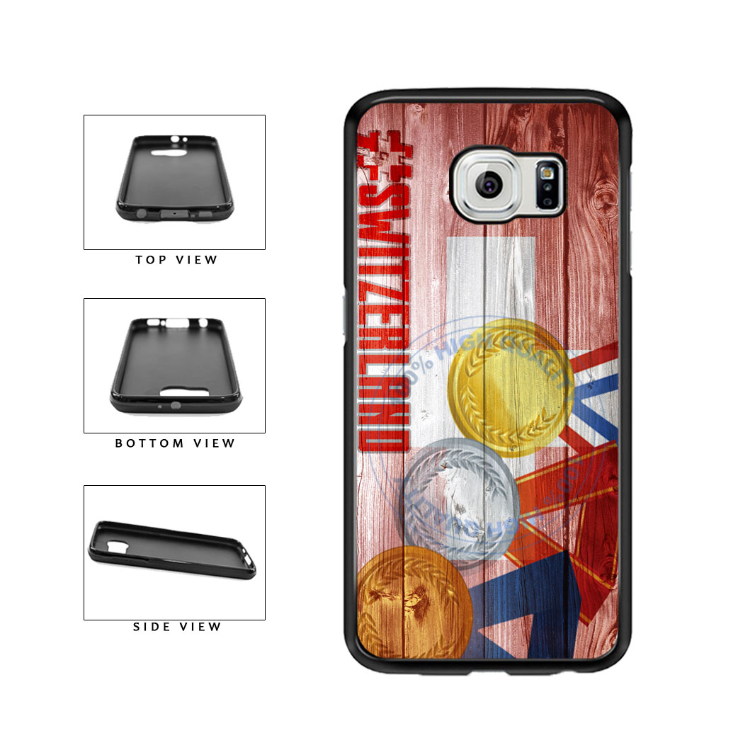 Sport Games Hashtag Team Switzerland #Switzerland TPU Rubber SILICONE Phone Case Back Cover For Samsung Galaxy S6 G920 includes BleuReign(TM) Cloth and Warranty Label