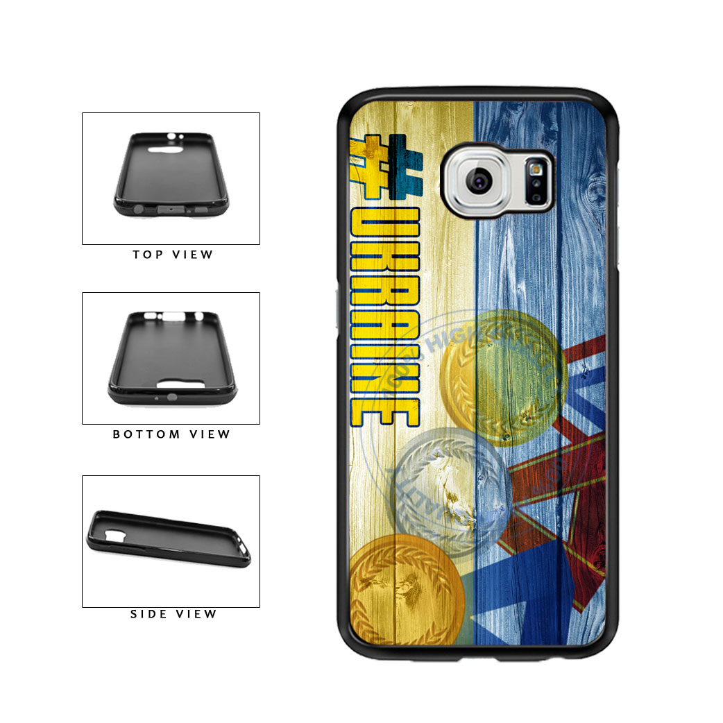Sport Games Hashtag Team Ukraine #Ukraine TPU Rubber SILICONE Phone Case Back Cover For Samsung Galaxy S6 G920 includes BleuReign(TM) Cloth and Warranty Label