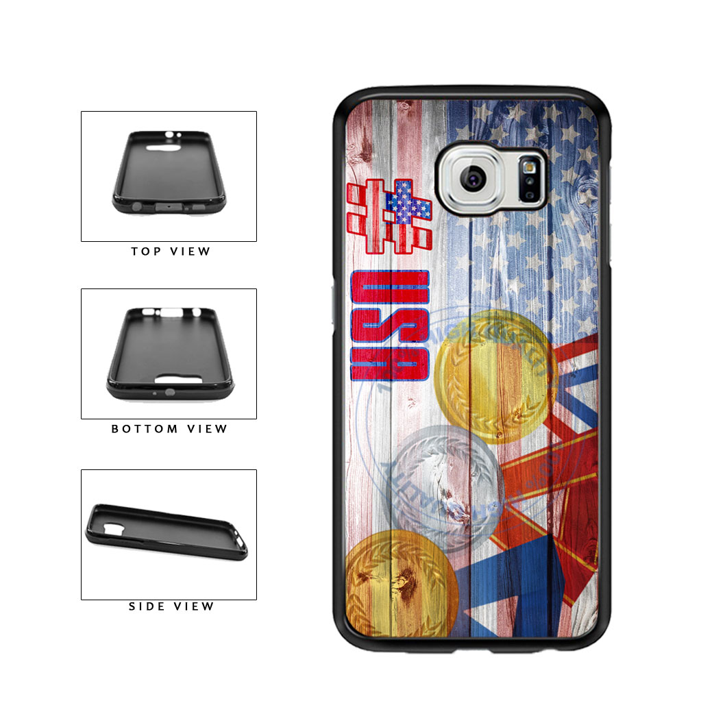 Sport Games Hashtag Team USA #USA TPU Rubber SILICONE Phone Case Back Cover For Samsung Galaxy S6 G920 includes BleuReign(TM) Cloth and Warranty Label