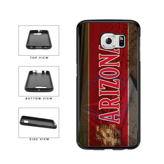 Hashtag Arizona #Arizona Baseball Team  TPU Rubber SILICONE Phone Case Back Cover For Samsung Galaxy S6 G920 includes BleuReign(TM) Cloth and Warranty Label