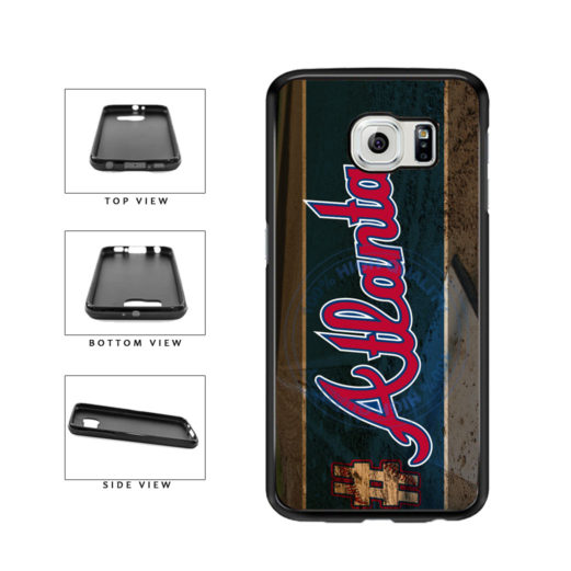 Hashtag Atlanta #Atlanta Baseball Team  TPU Rubber SILICONE Phone Case Back Cover For Samsung Galaxy S6 G920 includes BleuReign(TM) Cloth and Warranty Label