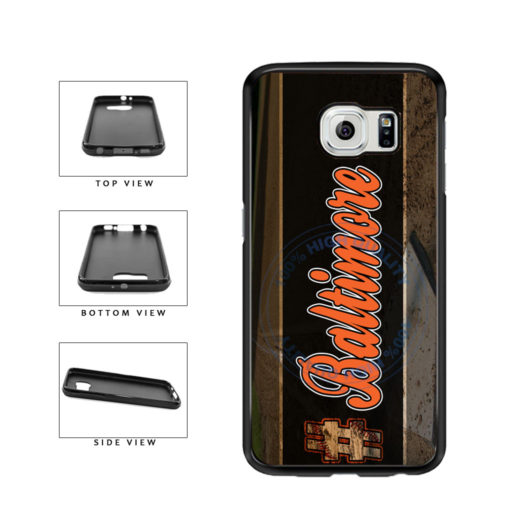 Hashtag Baltimore #Baltimore Baseball Team  TPU Rubber SILICONE Phone Case Back Cover For Samsung Galaxy S6 G920 includes BleuReign(TM) Cloth and Warranty Label