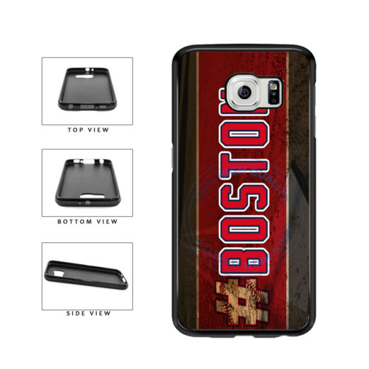Hashtag Boston #Boston Baseball Team  TPU Rubber SILICONE Phone Case Back Cover For Samsung Galaxy S6 G920 includes BleuReign(TM) Cloth and Warranty Label