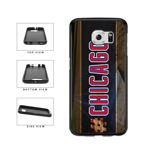 Hashtag Chicago #Chicago Blue and Red Baseball Team  TPU Rubber SILICONE Phone Case Back Cover For Samsung Galaxy S6 G920 includes BleuReign(TM) Cloth and Warranty Label