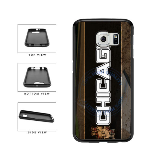 Hashtag Chicago #Chicago White Baseball Team  TPU Rubber SILICONE Phone Case Back Cover For Samsung Galaxy S6 G920 includes BleuReign(TM) Cloth and Warranty Label
