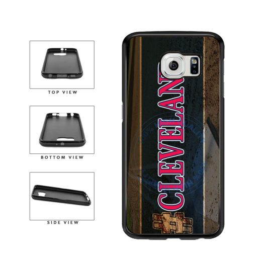 Hashtag Cleveland #Cleveland Baseball Team  TPU Rubber SILICONE Phone Case Back Cover For Samsung Galaxy S6 G920 includes BleuReign(TM) Cloth and Warranty Label