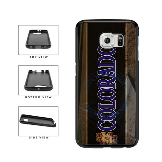 Hashtag Colorado #Colorado Baseball Team  TPU Rubber SILICONE Phone Case Back Cover For Samsung Galaxy S6 G920 includes BleuReign(TM) Cloth and Warranty Label