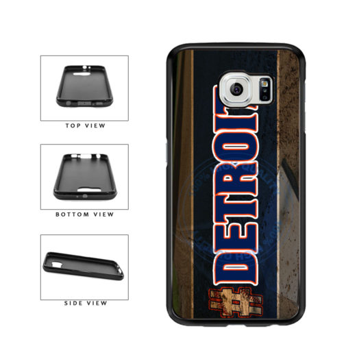 Hashtag Detroit #Detroit Baseball Team  TPU Rubber SILICONE Phone Case Back Cover For Samsung Galaxy S6 G920 includes BleuReign(TM) Cloth and Warranty Label