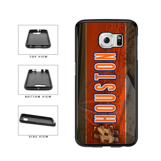 Hashtag Houston #Houston Baseball Team  TPU Rubber SILICONE Phone Case Back Cover For Samsung Galaxy S6 G920 includes BleuReign(TM) Cloth and Warranty Label
