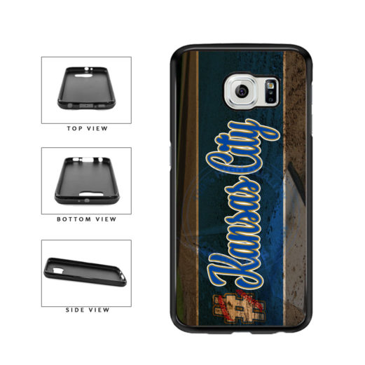 Hashtag Kansas City #KansasCity Baseball Team  TPU Rubber SILICONE Phone Case Back Cover For Samsung Galaxy S6 G920 includes BleuReign(TM) Cloth and Warranty Label