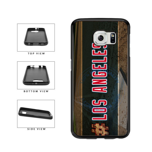 Hashtag Los Angeles #LosAngeles Anaheim Baseball Team TPU Rubber SILICONE Phone Case Back Cover For Samsung Galaxy S6 G920 includes BleuReign(TM) Cloth and Warranty Label