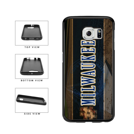 Hashtag Milwaukee #Milwaukee Baseball Team  TPU Rubber SILICONE Phone Case Back Cover For Samsung Galaxy S6 G920 includes BleuReign(TM) Cloth and Warranty Label