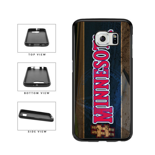 Hashtag Minnesota #Minnesota Baseball Team  TPU Rubber SILICONE Phone Case Back Cover For Samsung Galaxy S6 G920 includes BleuReign(TM) Cloth and Warranty Label
