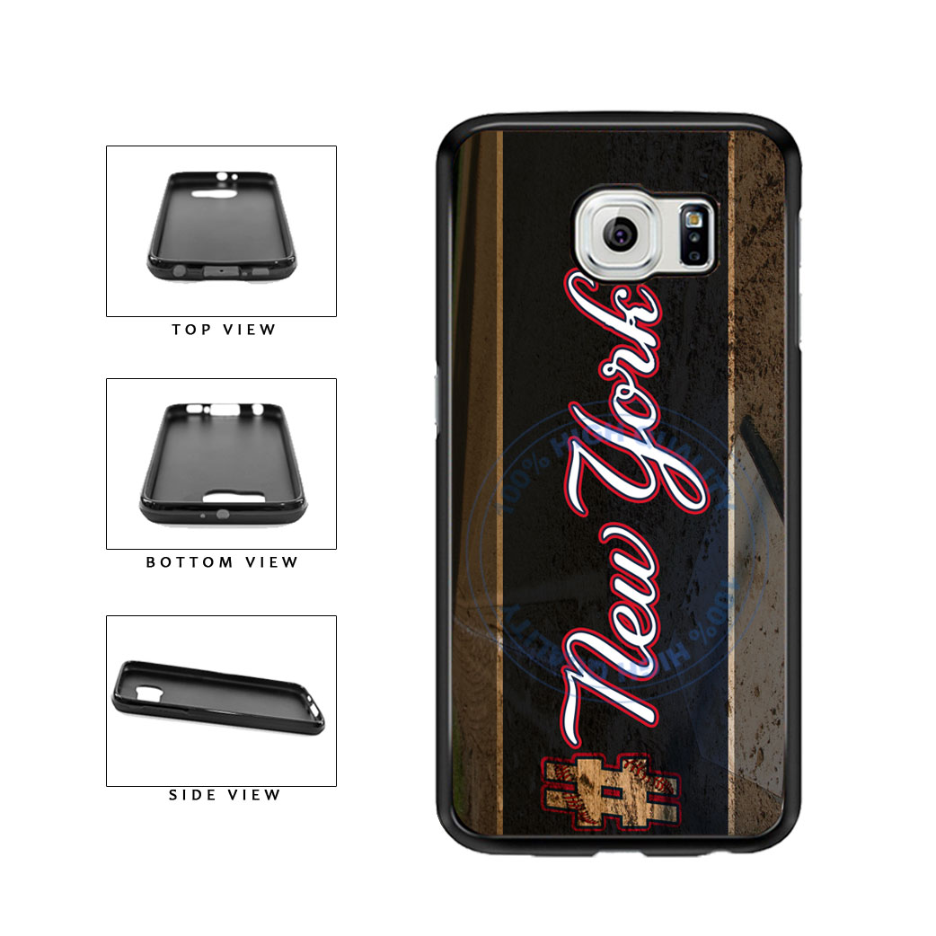 Hashtag New York #NewYork Blue Baseball Team  TPU Rubber SILICONE Phone Case Back Cover For Samsung Galaxy S6 G920 includes BleuReign(TM) Cloth and Warranty Label