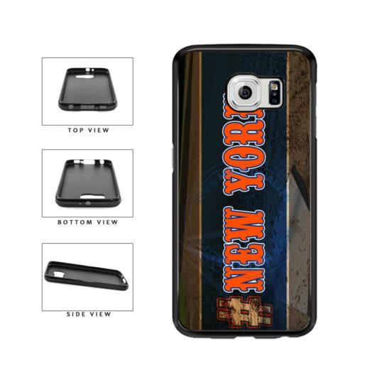Hashtag New York #NewYork Orange Baseball Team  TPU Rubber SILICONE Phone Case Back Cover For Samsung Galaxy S6 G920 includes BleuReign(TM) Cloth and Warranty Label