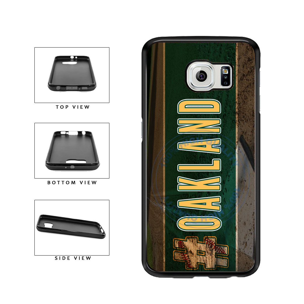 Hashtag Oakland #Oakland Baseball Team  TPU Rubber SILICONE Phone Case Back Cover For Samsung Galaxy S6 G920 includes BleuReign(TM) Cloth and Warranty Label