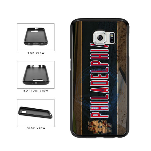Hashtag Philadelphia #Philadelphia Baseball Team  TPU Rubber SILICONE Phone Case Back Cover For Samsung Galaxy S6 G920 includes BleuReign(TM) Cloth and Warranty Label