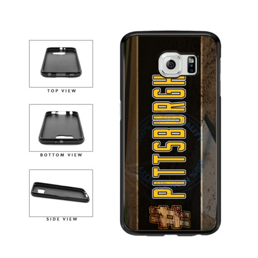 Hashtag Pittsburgh #Pittsburgh Baseball Team  TPU Rubber SILICONE Phone Case Back Cover For Samsung Galaxy S6 G920 includes BleuReign(TM) Cloth and Warranty Label