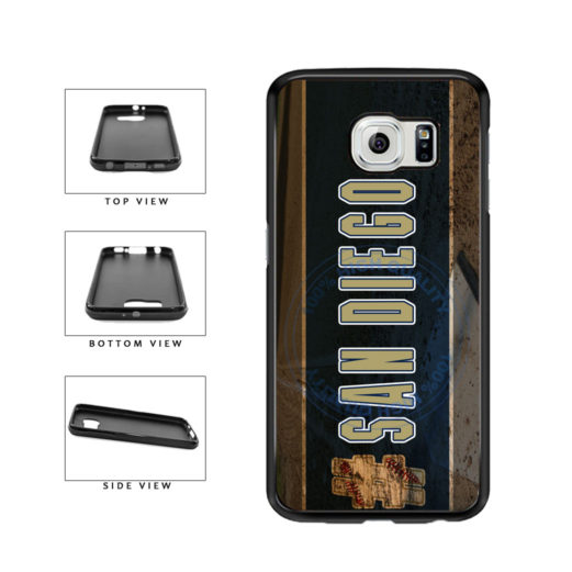 Hashtag San Diego #SanDiego Baseball Team  TPU Rubber SILICONE Phone Case Back Cover For Samsung Galaxy S6 G920 includes BleuReign(TM) Cloth and Warranty Label