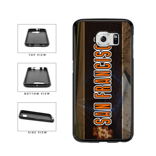 Hashtag San Francisco #SanFrancisco Baseball Team  TPU Rubber SILICONE Phone Case Back Cover For Samsung Galaxy S6 G920 includes BleuReign(TM) Cloth and Warranty Label