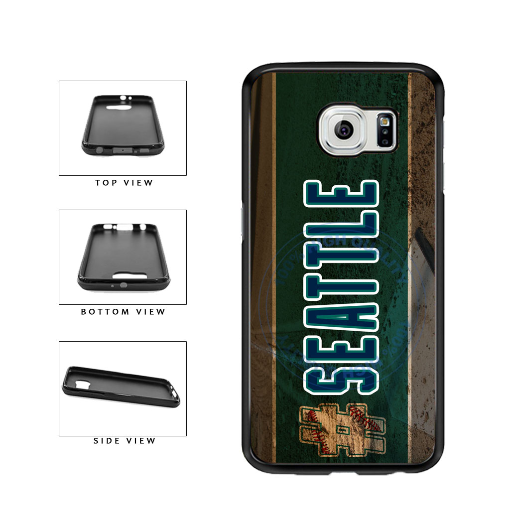 Hashtag Seattle #Seattle Baseball Team  TPU Rubber SILICONE Phone Case Back Cover For Samsung Galaxy S6 G920 includes BleuReign(TM) Cloth and Warranty Label