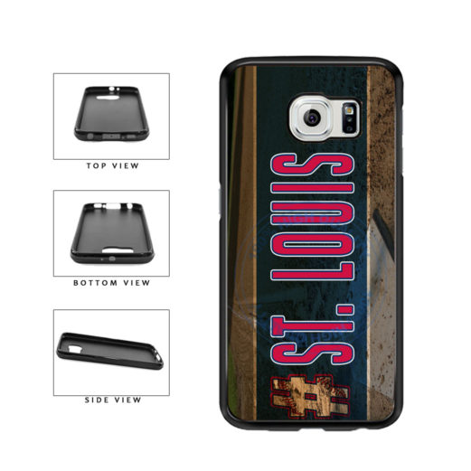 Hashtag St Louis #StLouis Baseball Team TPU Rubber SILICONE Phone Case Back Cover For Samsung Galaxy S6 G920 includes BleuReign(TM) Cloth and Warranty Label