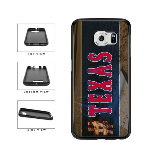 Hashtag Texas #Texas Baseball Team  TPU Rubber SILICONE Phone Case Back Cover For Samsung Galaxy S6 G920 includes BleuReign(TM) Cloth and Warranty Label