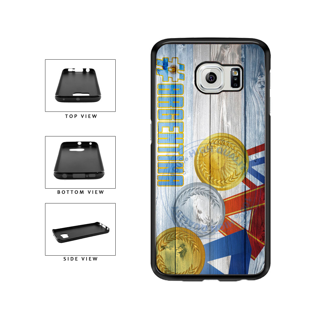 Sport Games Hashtag Team Argentina #Argentina TPU Rubber SILICONE Phone Case Back Cover For Samsung Galaxy S6 Edge G925 includes BleuReign(TM) Cloth and Warranty Label