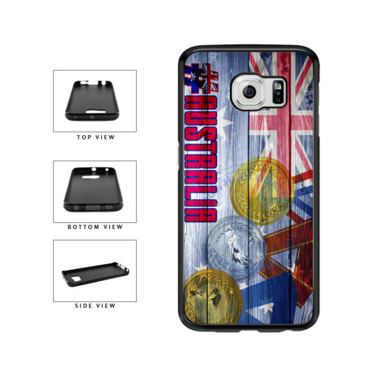 Sport Games Hashtag Team Australia #Australia TPU Rubber SILICONE Phone Case Back Cover For Samsung Galaxy S6 Edge G925 includes BleuReign(TM) Cloth and Warranty Label