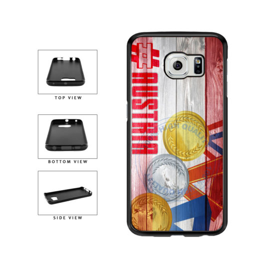 Sport Games Hashtag Team Austria #Austria TPU Rubber SILICONE Phone Case Back Cover For Samsung Galaxy S6 Edge G925 includes BleuReign(TM) Cloth and Warranty Label
