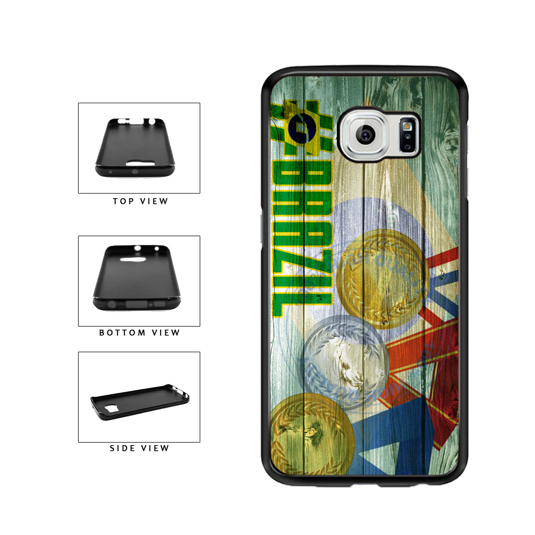 Sport Games Hashtag Team Brazil #Brazil TPU Rubber SILICONE Phone Case Back Cover For Samsung Galaxy S6 Edge G925 includes BleuReign(TM) Cloth and Warranty Label