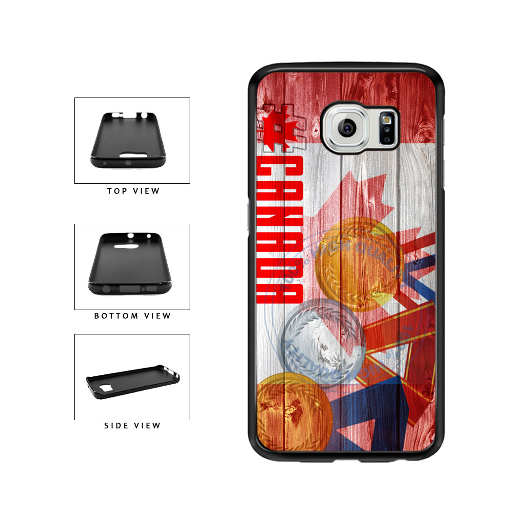 Sport Games Hashtag Team Canada #Canada TPU Rubber SILICONE Phone Case Back Cover For Samsung Galaxy S6 Edge G925 includes BleuReign(TM) Cloth and Warranty Label