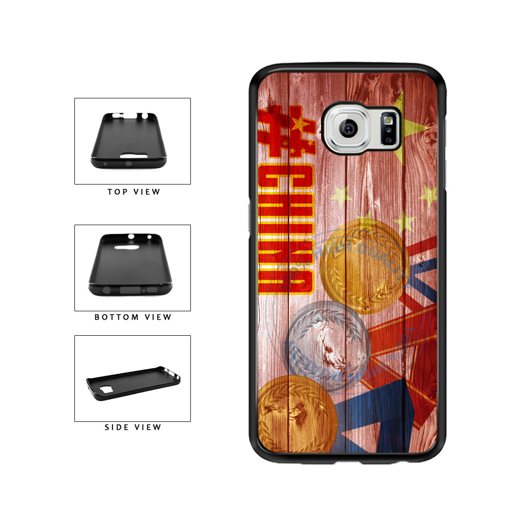 Sport Games Hashtag Team China #China TPU Rubber SILICONE Phone Case Back Cover For Samsung Galaxy S6 Edge G925 includes BleuReign(TM) Cloth and Warranty Label