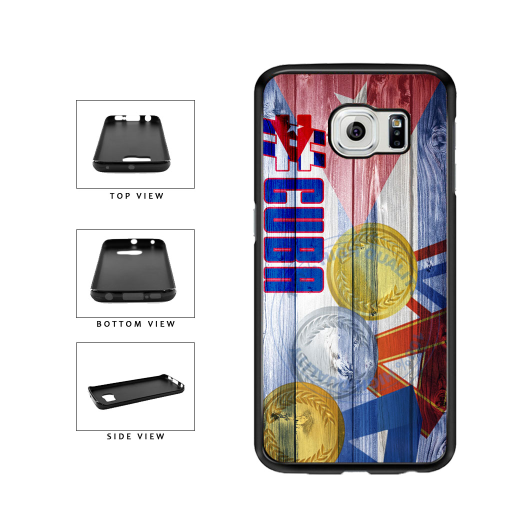 Sport Games Hashtag Team Cuba #Cuba TPU Rubber SILICONE Phone Case Back Cover For Samsung Galaxy S6 Edge G925 includes BleuReign(TM) Cloth and Warranty Label