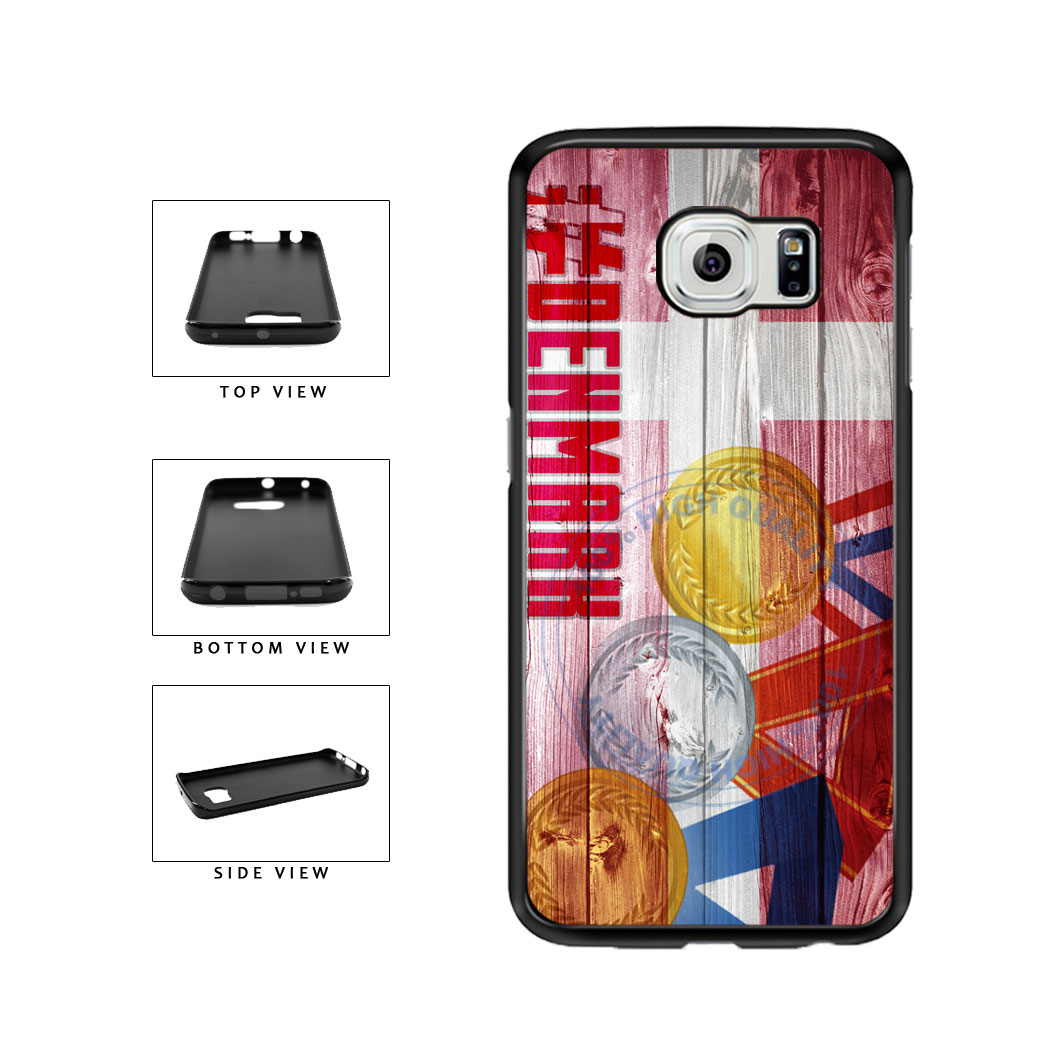 Sport Games Hashtag Team Denmark #Denmark TPU Rubber SILICONE Phone Case Back Cover For Samsung Galaxy S6 Edge G925 includes BleuReign(TM) Cloth and Warranty Label