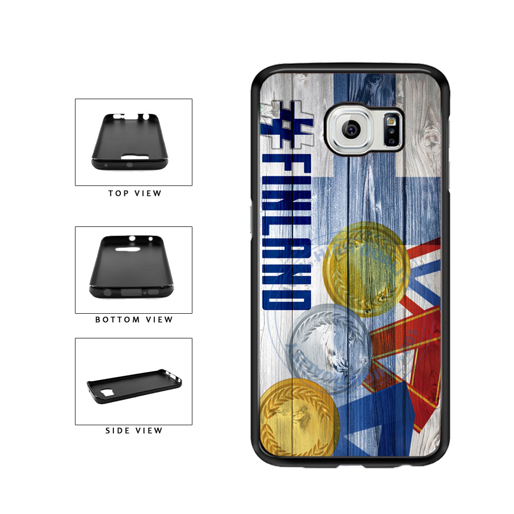 Sport Games Hashtag Team Finland #Finland TPU Rubber SILICONE Phone Case Back Cover For Samsung Galaxy S6 Edge G925 includes BleuReign(TM) Cloth and Warranty Label