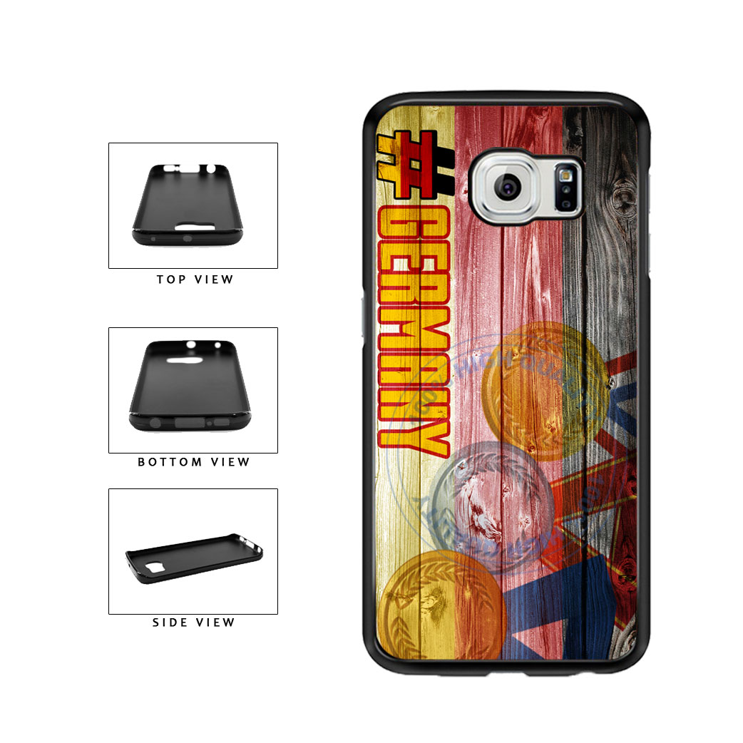 Sport Games Hashtag Team Germany #Germany TPU Rubber SILICONE Phone Case Back Cover For Samsung Galaxy S6 Edge G925 includes BleuReign(TM) Cloth and Warranty Label