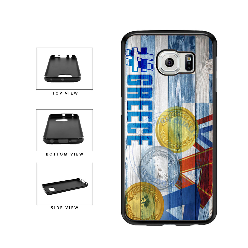 Sport Games Hashtag Team Greece #Greece TPU Rubber SILICONE Phone Case Back Cover For Samsung Galaxy S6 Edge G925 includes BleuReign(TM) Cloth and Warranty Label