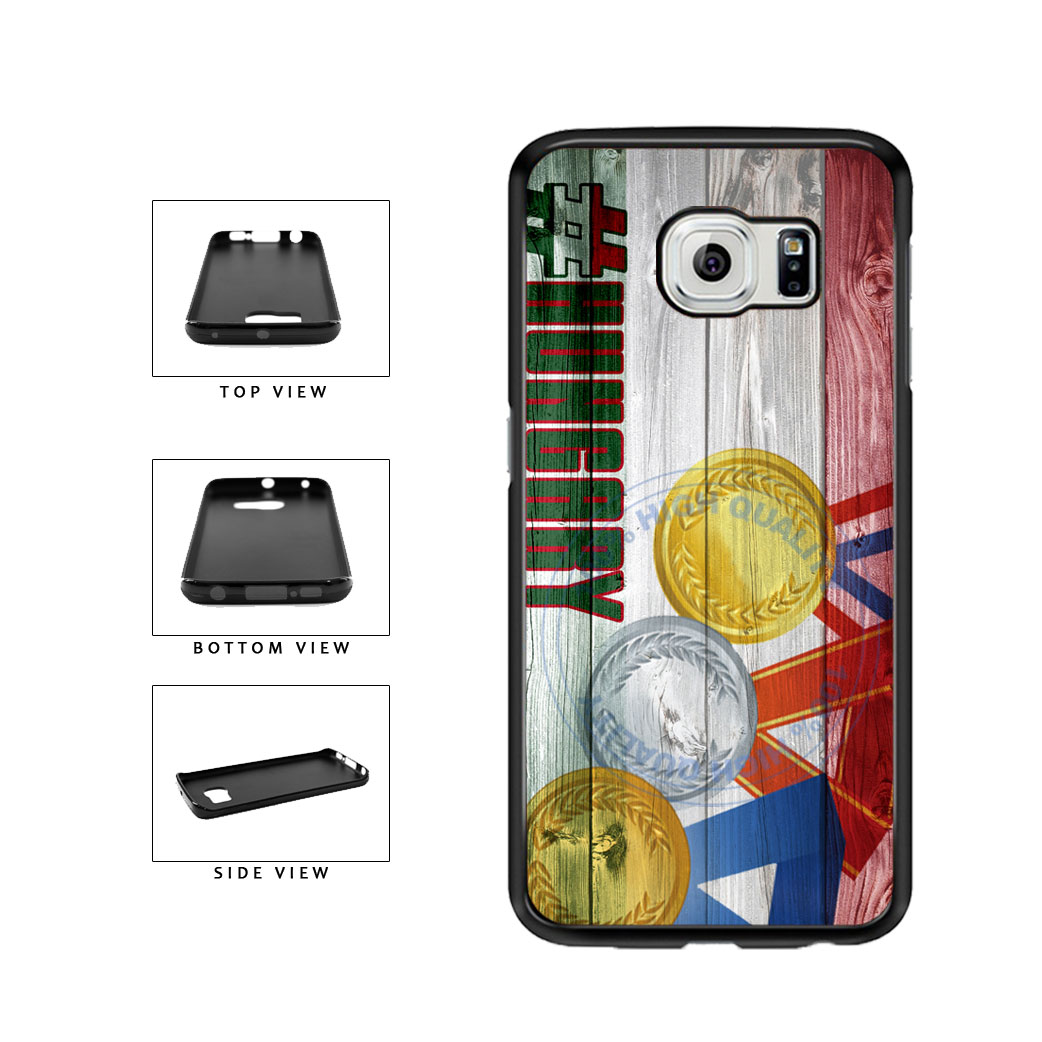 Sport Games Hashtag Team Hungary #Hungary TPU Rubber SILICONE Phone Case Back Cover For Samsung Galaxy S6 Edge G925 includes BleuReign(TM) Cloth and Warranty Label