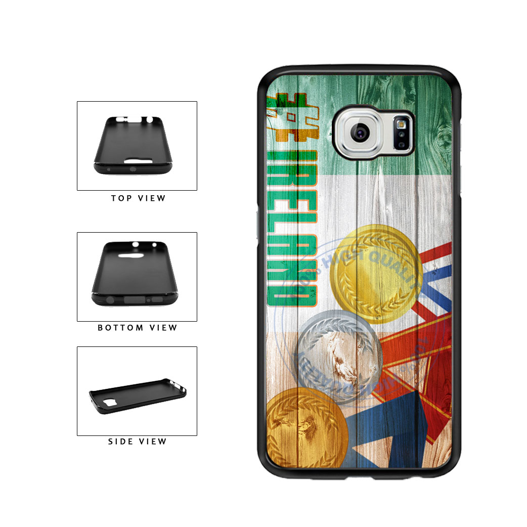 Sport Games Hashtag Team Ireland #Ireland TPU Rubber SILICONE Phone Case Back Cover For Samsung Galaxy S6 Edge G925 includes BleuReign(TM) Cloth and Warranty Label