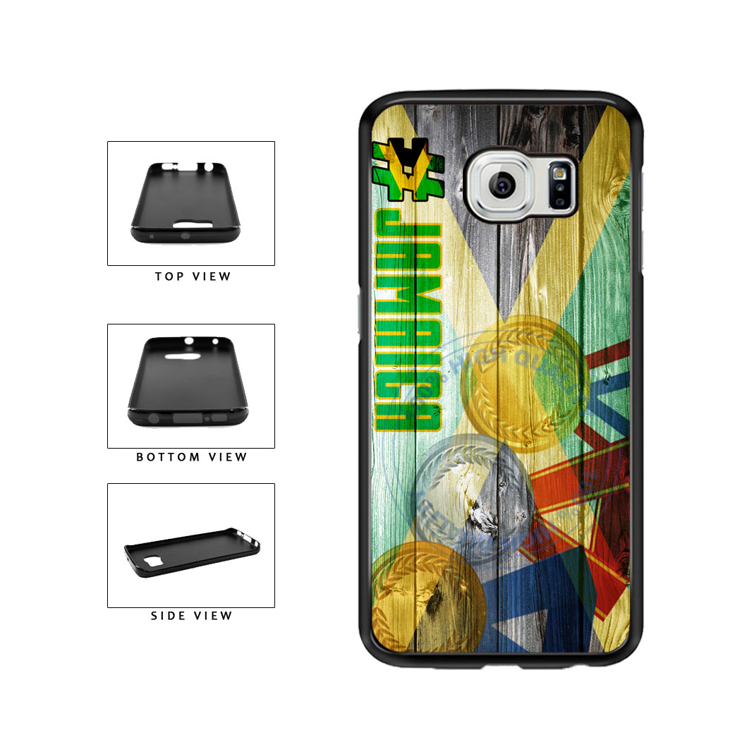 Sport Games Hashtag Team Jamaica #Jamacia TPU Rubber SILICONE Phone Case Back Cover For Samsung Galaxy S6 Edge G925 includes BleuReign(TM) Cloth and Warranty Label