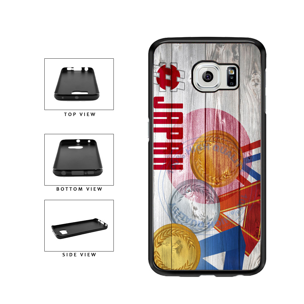 Sport Games Hashtag Team Japan #Japan TPU Rubber SILICONE Phone Case Back Cover For Samsung Galaxy S6 Edge G925 includes BleuReign(TM) Cloth and Warranty Label