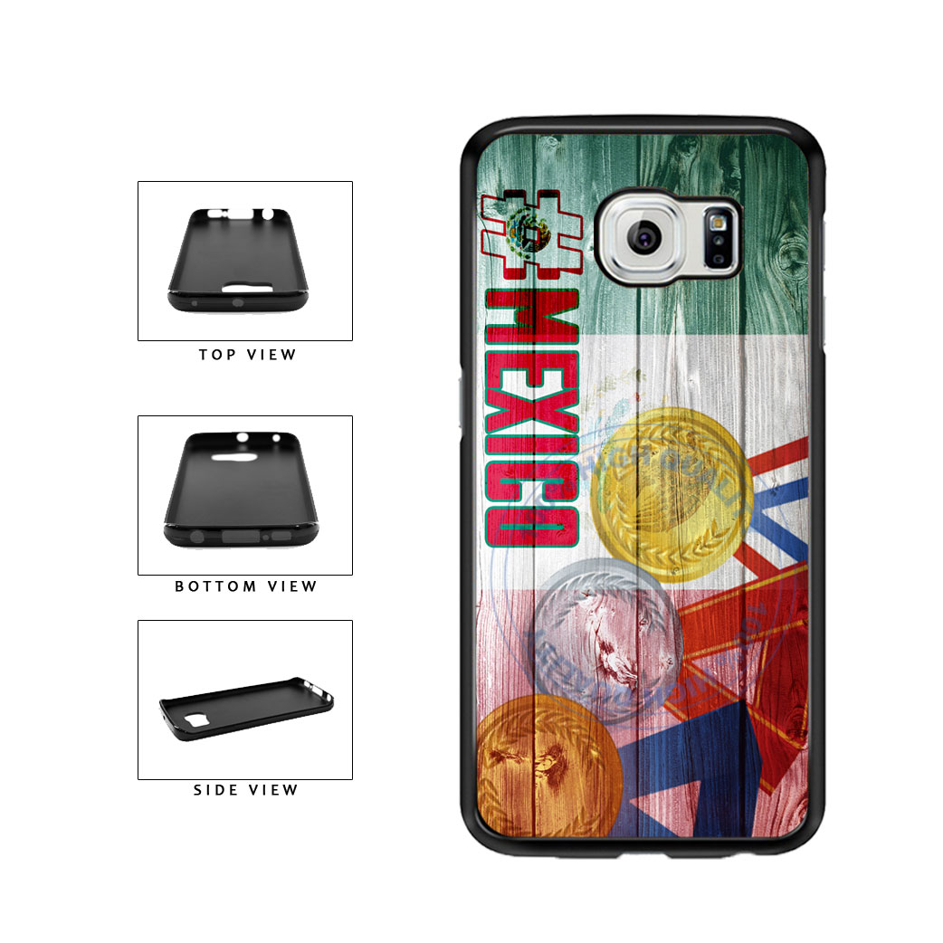 Sport Games Hashtag Team Mexico #Mexico TPU Rubber SILICONE Phone Case Back Cover For Samsung Galaxy S6 Edge G925 includes BleuReign(TM) Cloth and Warranty Label