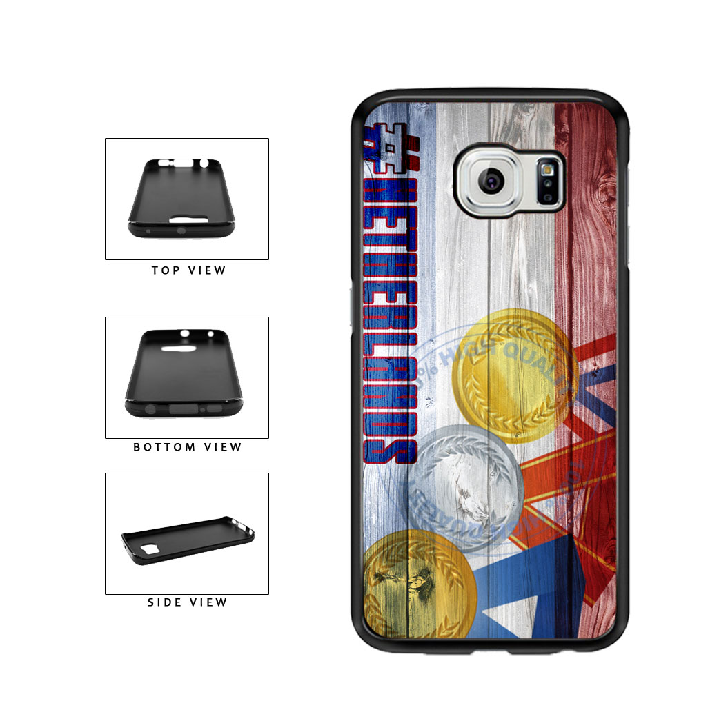 Sport Games Hashtag Team Netherlands #Netherlands TPU Rubber SILICONE Phone Case Back Cover For Samsung Galaxy S6 Edge G925 includes BleuReign(TM) Cloth and Warranty Label