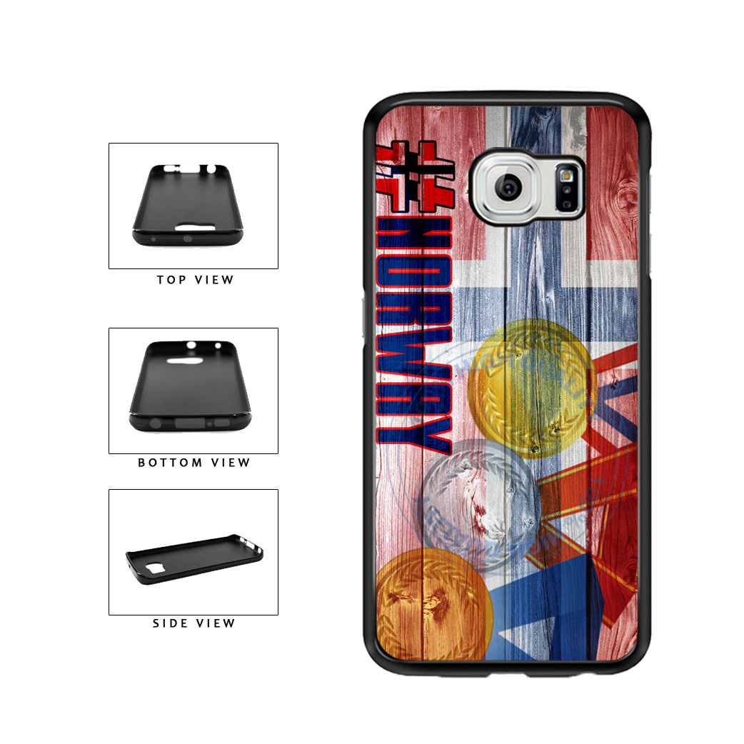 Sport Games Hashtag Team Norway #Norway TPU Rubber SILICONE Phone Case Back Cover For Samsung Galaxy S6 Edge G925 includes BleuReign(TM) Cloth and Warranty Label