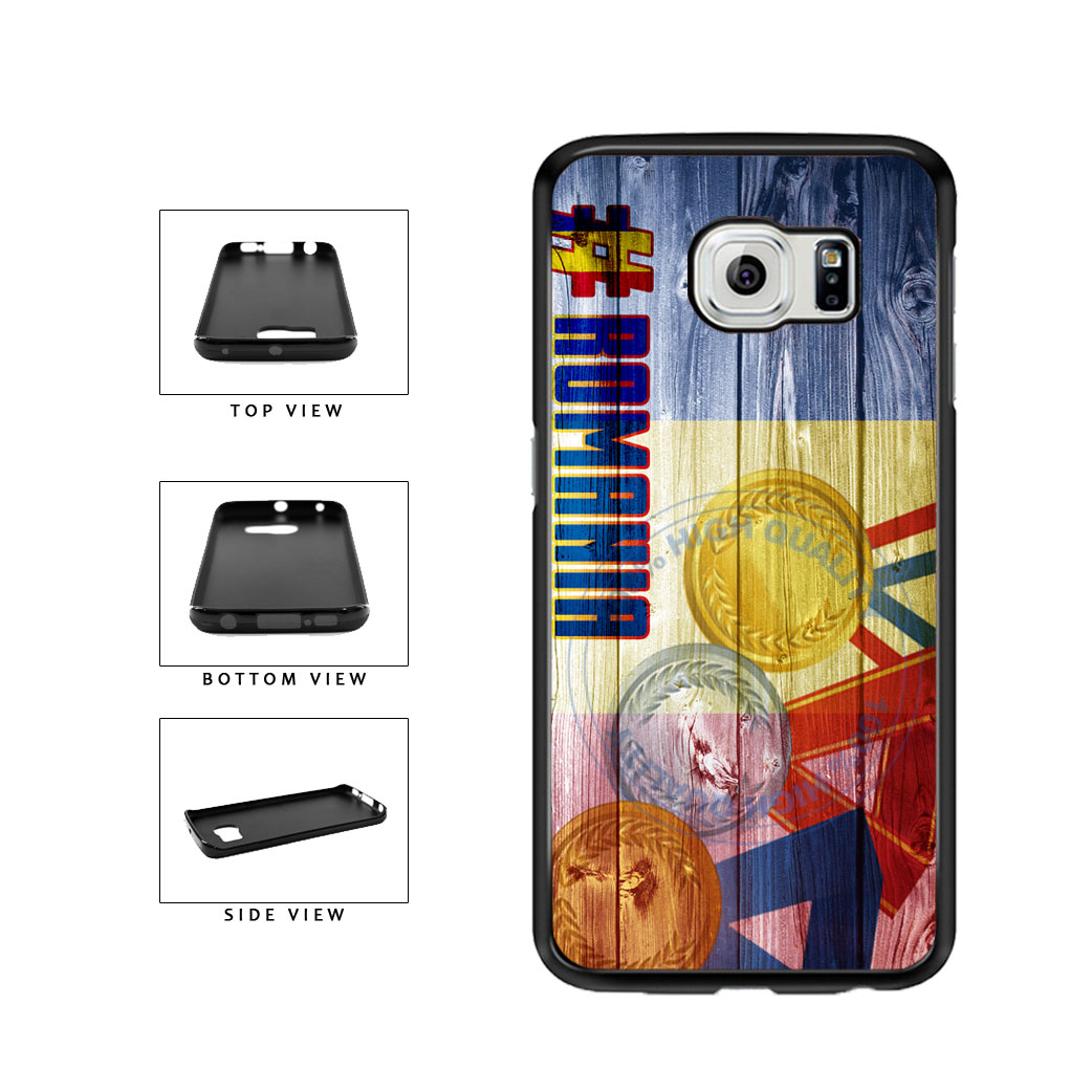 Sport Games Hashtag Team Romania #Romania TPU Rubber SILICONE Phone Case Back Cover For Samsung Galaxy S6 Edge G925 includes BleuReign(TM) Cloth and Warranty Label
