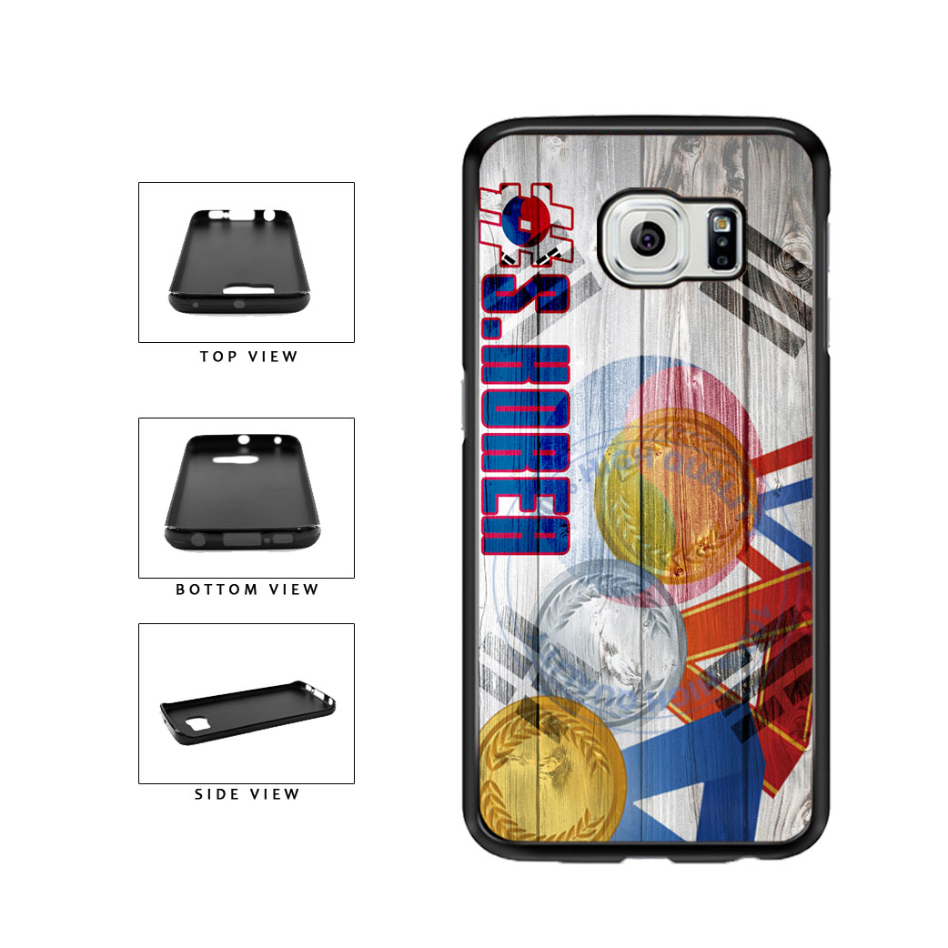 Sport Games Hashtag Team South Korea #SouthKorea TPU Rubber SILICONE Phone Case Back Cover For Samsung Galaxy S6 Edge G925 includes BleuReign(TM) Cloth and Warranty Label