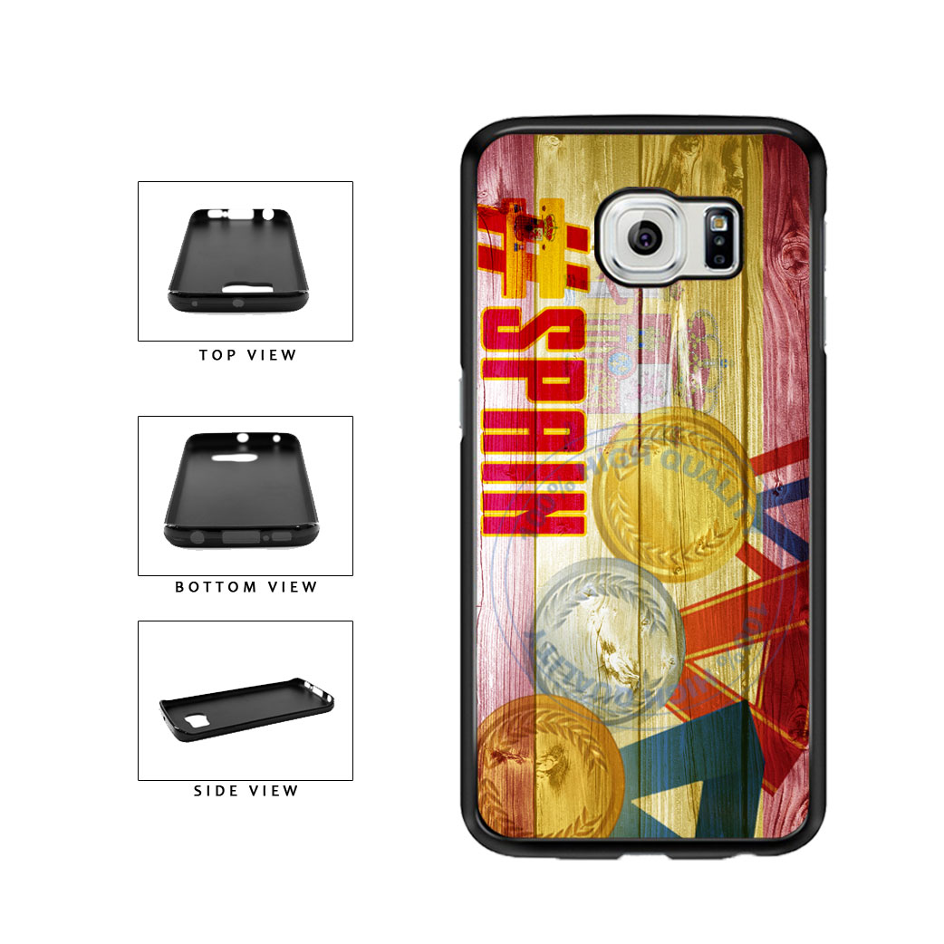 Sport Games Hashtag Team Spain #Spain TPU Rubber SILICONE Phone Case Back Cover For Samsung Galaxy S6 Edge G925 includes BleuReign(TM) Cloth and Warranty Label