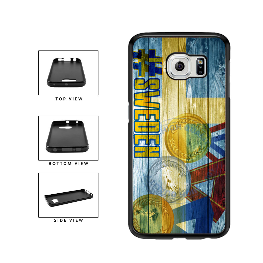 Sport Games Hashtag Team Sweden #Sweden TPU Rubber SILICONE Phone Case Back Cover For Samsung Galaxy S6 Edge G925 includes BleuReign(TM) Cloth and Warranty Label